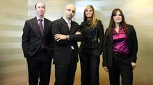 Cassels Brock & Blackwell lawyers, from left, Leonard Glickman, Casey Chisick, Sabrina Fiorellino and Laurie LaPalme form the Toronto firm's fashion industry practice group. (Yvonne Berg/Copyright Yvonne Berg 2009. All rights reserved.)