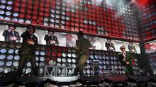 The Beastie Boys perform during the Live Earth concert at Wembley Stadium in London, July 7, 2007. (STEPHEN HIRD/REUTERS)