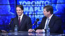 Brendan Shanahan is introduced as the new President of the Toronto Maple Leafs during a press conference on April 14 2014. (Fred Lum/Fred Lum/The Globe and Mail)