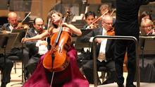 Cellist Alisa Wellerstein performs Elgar's Cello Concerto with the Toronto Symphony Orchestra. (Josh Clavir/TSO)