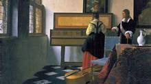 Detail of Johannes Vermeer's The Music Lesson.