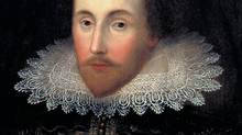 The Janssen portrait of William Shakespeare. (Folger Shakespeare Librarynot for reproduction without written permission)