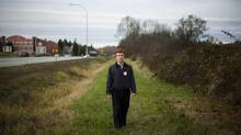 Terry McNeice, President of the South Surrey Ratepayers Association, stands near the land for a proposed casino/entertainment complex along the Highway 99 Corridor in Surrey, B.C., on Nov. 27, 2012. Councillors voted 5 to 4 to reject the controversial project on Jan. 19, 2013. (Rafal Gerszak For The Globe and Mail)