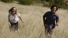 "Hallie Switzer and Alexander Gammal in a scene from ""Modra"""