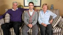 "Phil Hanley at home with his folks in a scene from ""Generation Boomerang"" (CBC)"