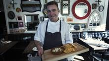 Chef Steve Smee of Calgary's Ox and Angela Restaurant with his chorizo fundido dip. (Todd Korol)