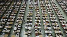 Exams do not accurately measure the knowledge a student has accumulated. (© China Daily China Daily Infor/REUTERS)