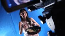 Flora Cheung on the set of her new adult cooking show. (May Tse)