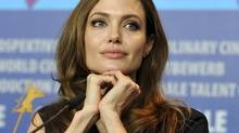U.S. actress and director Angelina Jolie attends a news conference in Berlin on Feb. 11, 2012. (STRINGER/GERMANY/REUTERS)