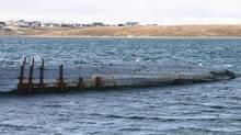 Roald Amundsen ship Maud near Cambridge Bay, Nunavut. Kitikmeot Heritage Society photo
