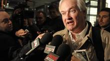 Donald Fehr, executive director of the NHL Players' Association, speaks to the media following talks after meeting with the NHL, Friday, Nov. 9, 2012, in New York. (Louis Lanzano/AP)