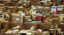 The UK's Amazon warehouse during the holiday season (Matt Cardy/Getty Images)
