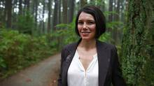 Laurie Sterritt, executive director of the B.C. Aboriginal Mine Training Association (BC AMTA), stands in a forest near her home in Vancouver October 12, 2012. (Jeff Vinnick/Jeff Vinnick/The Globe and Mail)