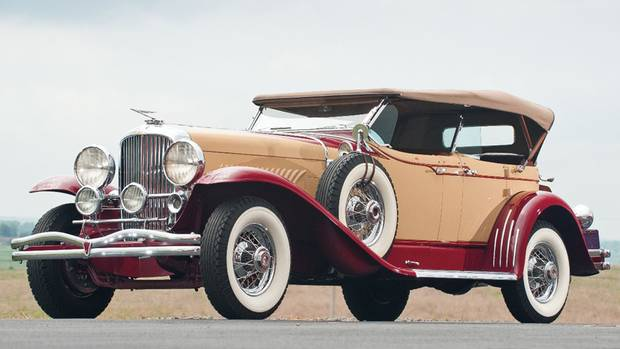 This 1931 Duesenberg left a racy German Merc far behind in a high-stakes duel. (Darin Schnabel/RM Auctions)