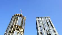 Condominiums under construction south of Front St. West between Spadina Ave. and Bathurst St. (Fred Lum/The Globe and Mail/Fred Lum/The Globe and Mail)