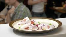 Radish and turnip salad at Brockton General (Kevin Van Paassen/Kevin Van Paassen/The Globe and Mail)