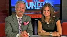 Pat Bolland, left, and Alex Pierson are co-hosts of The Roundtable on the Sun News Network.