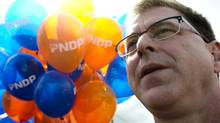 B.C. NDP Leader Adrian Dix attends the annual Vaisakhi Parade in Surrey, B.C., on April 20, 2013. (JONATHAN HAYWARD/THE CANADIAN PRESS)