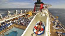 The AquaDuck on the Disney Dream is the first-ever shipboard water coaster. (Kent Phillips/Kent Phillips)