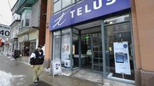 """The Telus store at at 2187 Queen St. East in Toronto's Beach neighbourhood is photographed on March 5 2014. The Vancouver-based company is publishing its first so-called """"transparency report"""" Thursday morning, revealing that it received 103,462 requests for customer information from government officials and law enforcement agencies in 2013. (Fred Lum/Fred Lum/The Globe and Mail)"""