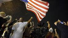 Protesters march in Ferguson, Mo. last year. U.S. police at times used data obtained by a brokerin bids to contain protesters after fatal police shootings of black men. (Jeff Roberson/AP)