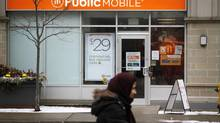 A Public Mobile store in Toronto. (Fernando Morales/The Globe and Mail)
