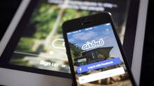Statistics Canada reports that one in 10 adult Canadians used a ride- or room-sharing service, such as Airbnb, in the 12 months to October, 2016. (Andrew Harrer/Bloomberg)