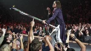 Steven Tyler of Aerosmith performs in Vancouver.