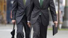 Tiff Macklem, left, is the front-runner to replace Mark Carney. (Adrian Wyld/The Canadian Press)