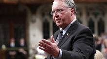 Canada's Fisheries Minister Keith Ashfield speaks during Question Period in the House of Commons on Parliament Hill in Ottawa May 10, 2012. (CHRIS WATTIE/REUTERS)