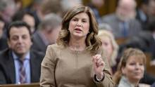 Interim Conservative Leader Rona Ambrose rises during Question Period in the House of Commons in Ottawa, on Feb.8, 2017. (Adrian Wyld/THE CANADIAN PRESS)