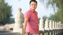 Canadian citizen Huang Kun, seen here in May, is now in a jail in central China, expecting to face criminal charges.