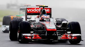 Jenson Button of Great Britain and McLaren drives on his way to winning the Canadian Formula One Grand Prix at the Circuit Gilles Villeneuve on June 12, 2011 in Montreal.
