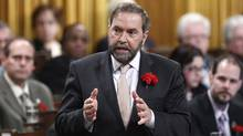New Democratic Party leader Thomas Mulcair speaks during Question Period in the House of Commons on Parliament Hill in Ottawa May 9, 2012. (Chris Wattie/Reuters/Chris Wattie/Reuters)