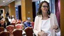 Beatrix Dart, executive director of the Initiative for Women in Business at the Rotman School of Management speaks before the start of the Bloomberg Women On Boards event in Toronto on Tuesday. (Cole Burston/Bloomberg)