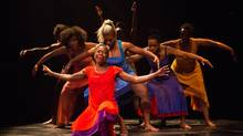 Unnamed women in for colored girls speak monologues, sometimes solo, sometimes shared, drawn from their experiences being black and female in various cities across the United States at different times in the postwar period. (Cylla von Tiedemann)