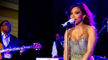 Singer Keshia Chante performing at the Marchesa fashion event raising funds for the Herbie Fund. (JJ Thompson For The Globe and Mail)