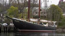 Bluenose II waits in port in Lunenburg, N.S., on May 28, 2014. (ANDREW VAUGHAN/THE CANADIAN PRESS)