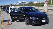 The Audi S5, with Frank Sprongl, was the star of the day, with the best handling of the trio of cars. (Audi Driver Experience)
