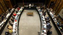 Toronto District School Board meeting on Sept. 11, 2013. (Peter Power/The Globe and Mail)