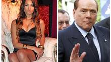 A combination of file photographs shows Karima El Mahroug of Morocco posing during a photocall at the Karma disco in Milan in 2010 and Italy's former prime minister Silvio Berlusconi waving as he arrives for a meeting of the European People's Party in Brussels. (REUTERS)