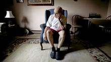 Doug Tebow, 73, at his home in Peterborough, Ont. Mr. Tebow spent 17 years at the Huronia Regional Centre, now the subject of a potential class-action lawsuit. (Fred Thornhill for The Globe and Mail/Fred Thornhill for The Globe and Mail)