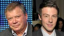 William Shatner at the summer TV writers tour, July 28, 2010, Beverly Hills, Calif.; Cory Monteith in West Hollywood, Jan. 5, 2011. (Frederick M. Brown / Getty Images; John Shearer/Getty Images)