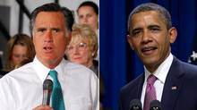 Republican presidential candidate Mitt Romney and President Barack Obama seen at events. (Brian Snyder/Reuters and Carolyn Kaster/AP)