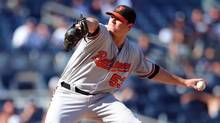 Baltimore Orioles relief pitcher Zach Britton pitches against the New York Yankees on Aug. 28, 2016. (Brad Penner/USA Today Sports)