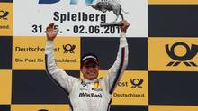 Bruno Spengler celebrates his win Sunday at Spielberg. (BMW)