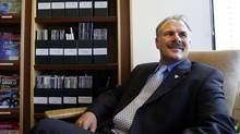 Ontario Environmental Commissioner Gordon Miller photographed at his office on Bay St., Toronto. (Fernando Morales/The Globe and Mail)