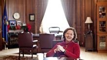 Alberta Premier Alison Redford answers questions during an interview in her Alberta Legislature office in Edmonton Alberta December 20, 2012. Jason Franson for The Globe and Mail. (Jason Franson For The Globe and Mail)