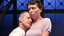 Kevin Bundy and Claire Calnan in The Clockmaker. (Cylla von Tiedemann)