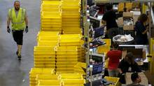 Portfolio manager Murray Leith thinks Amazon, which operates a fulfilment center in Tracy, Calif., has many more years of high growth in front of it. (Robert Galbraith/REUTERS)